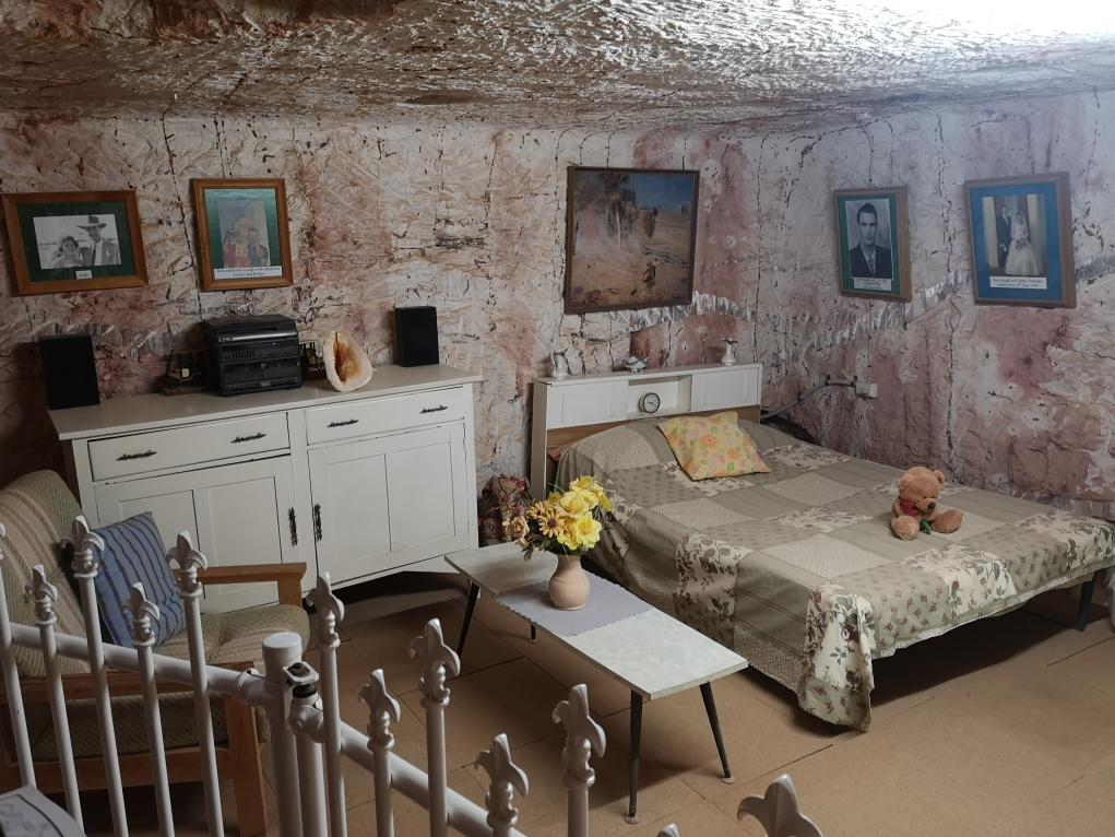 La chambre principale de la maison troglodyte