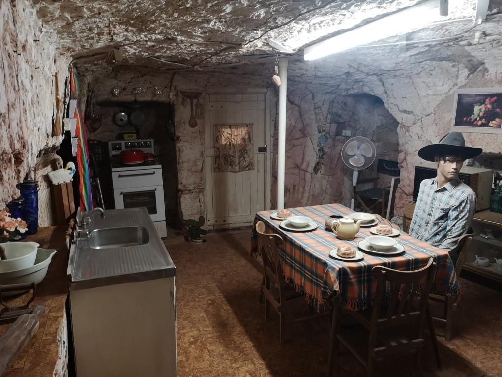La pièce à vivre de la maison troglodyte
