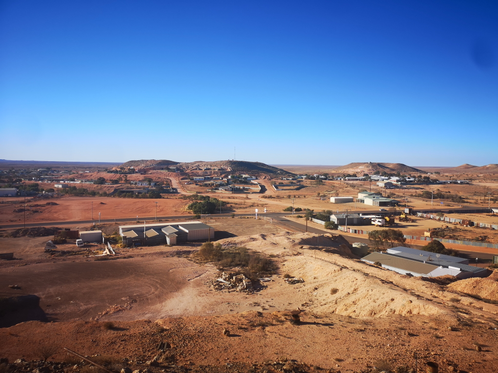 Vue panoramique sur Coober Pedy