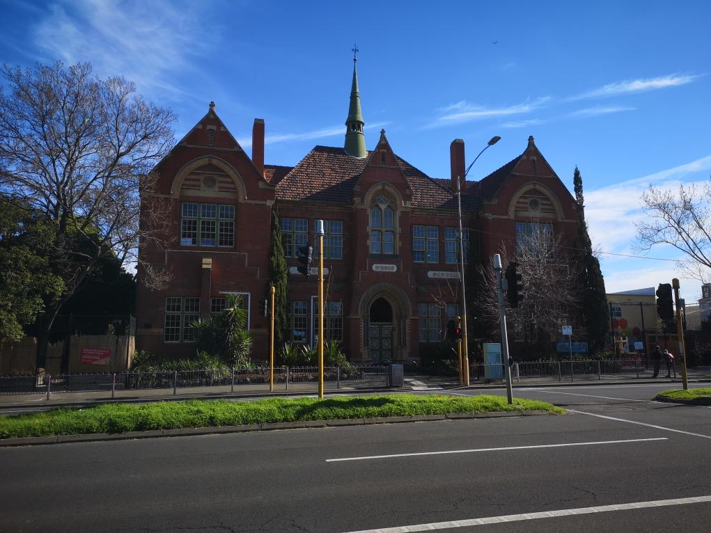 Une école du quartier de Carlton