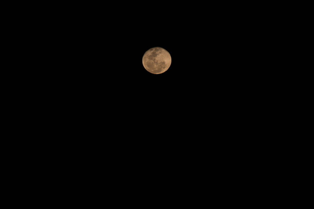 Quelques essais photographiques dans la nuit noire australienne sur une lune qui apparaît tout juste