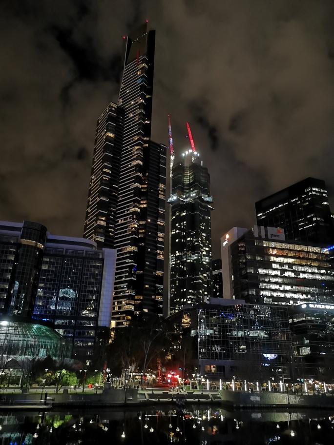 L'Eureka Tower vue de nuit