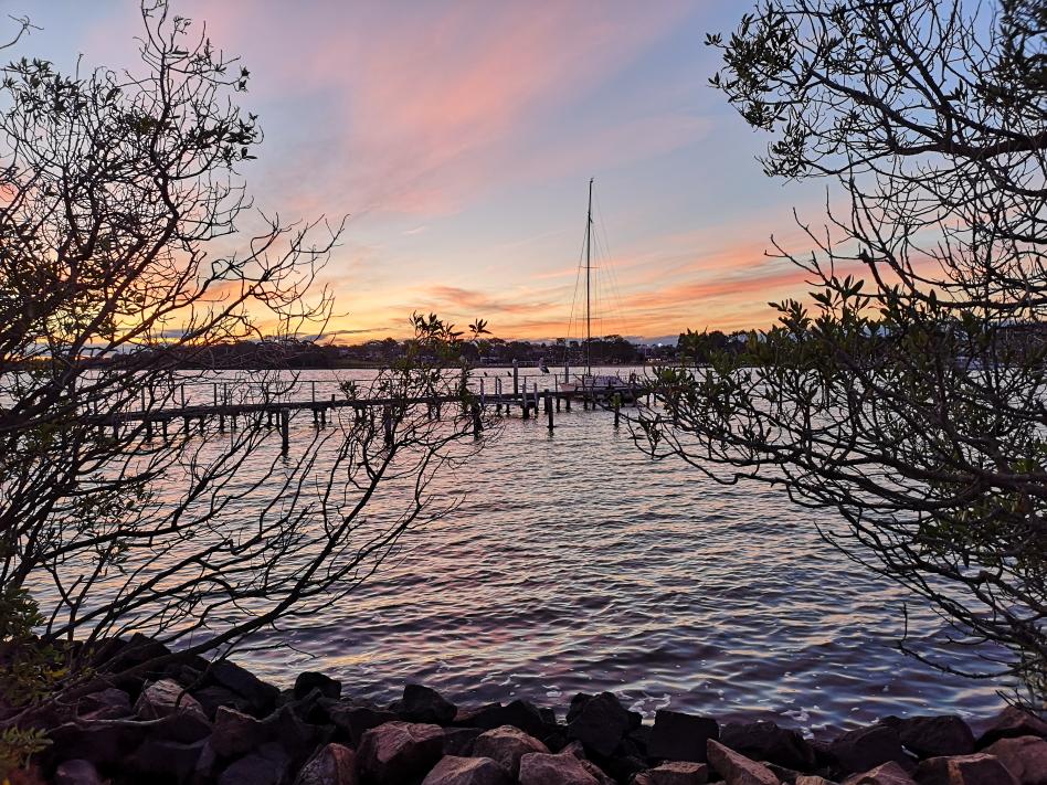 Coucher de Soleil depuis Raymond Island