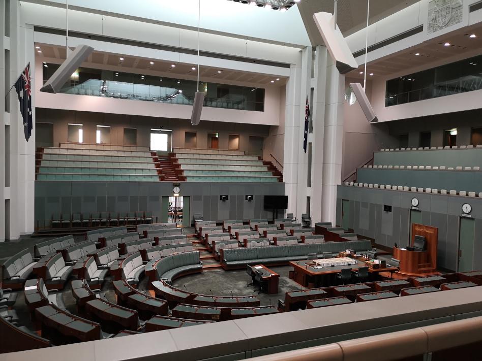 La Chambre des Députés (House of Representatives) à Canberra