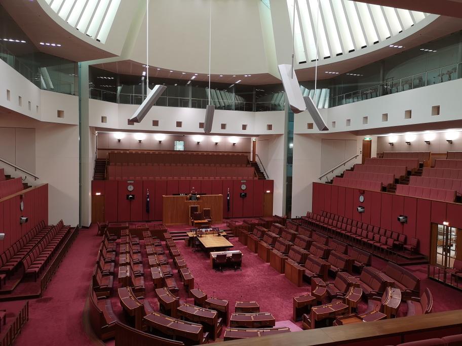 La Chambre du Sénat (Senate Chamber) à Canberra