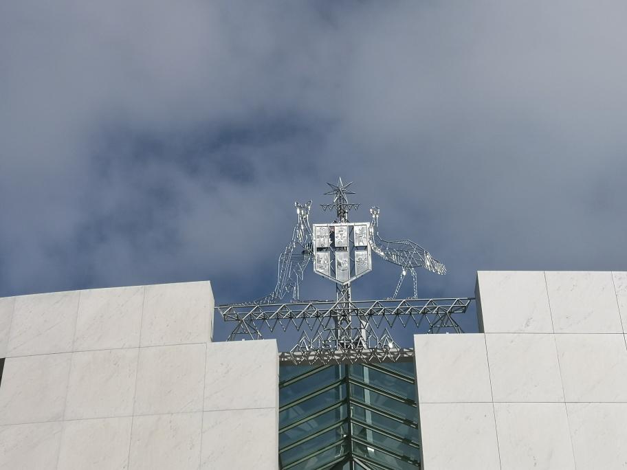 Les armoiries de l'Australie sur la Maison du Parlement