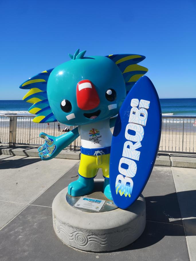 Mascotte des Jeux du Commonwealth 2018 qui ont été organisés sur la Gold Coast