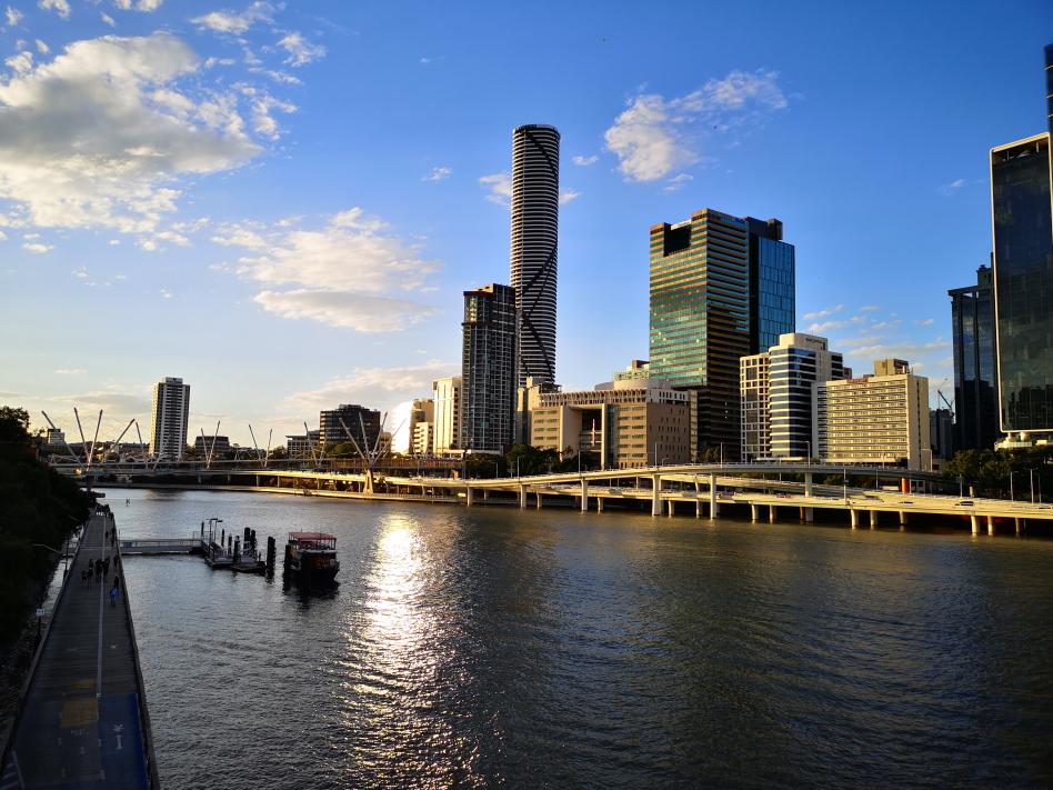 CBD de Brisbane vu depuis les Park Lands