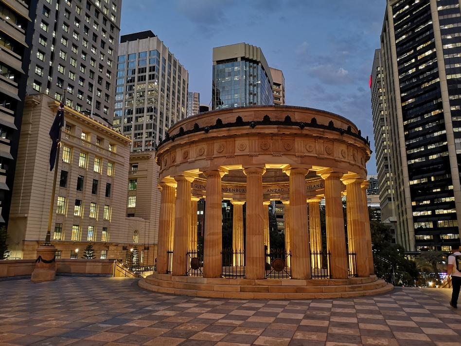 ANZAC Square, en hommage aux soldats morts pour l'Australie et la Nouvelle Zélande