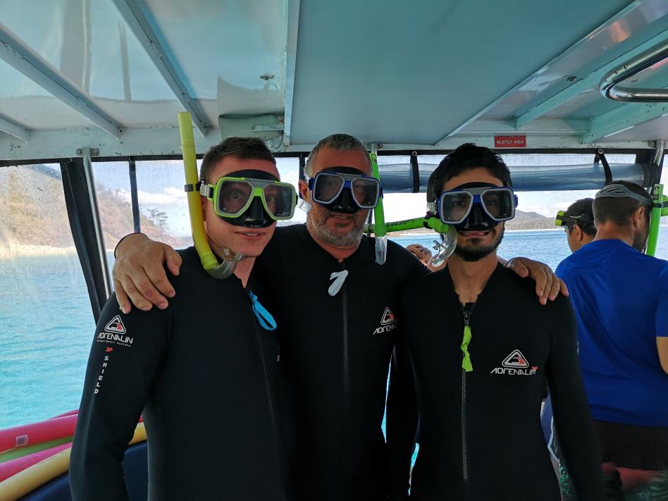 Prêts à aller plonger!
