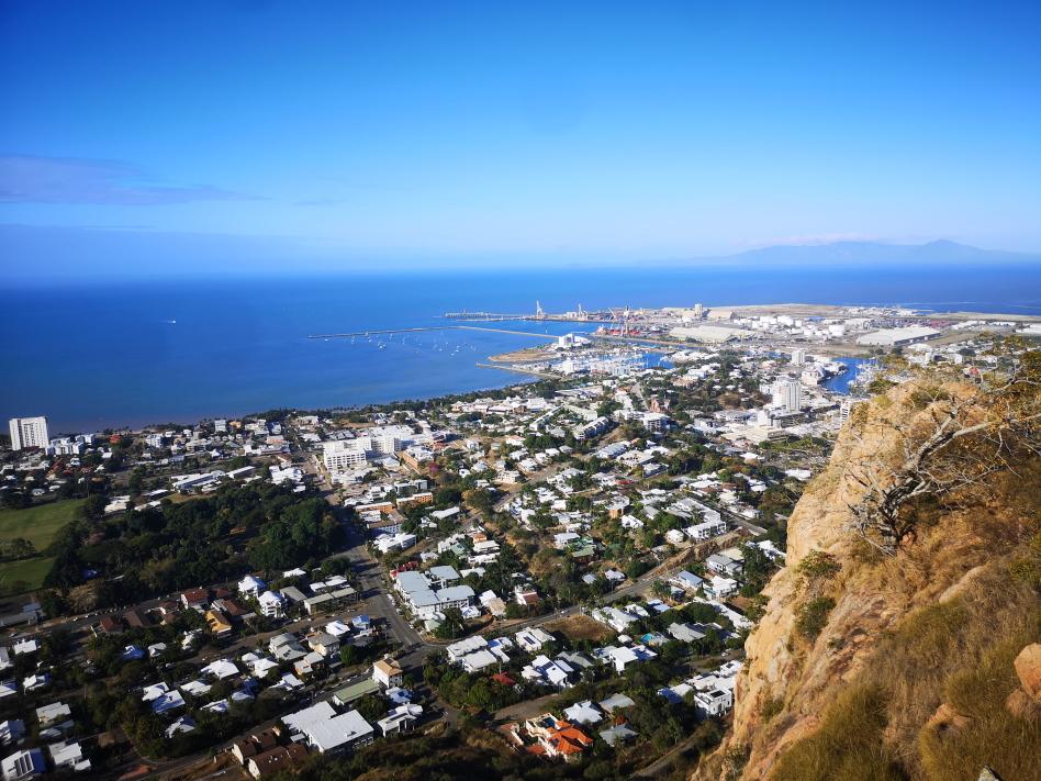 Vue sur Townsville depuis Castle Hill