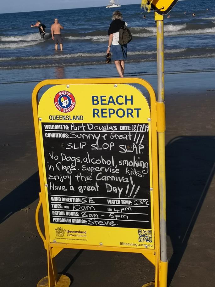 Les conditions météorologiques de la plage pour ce jour, pas mal