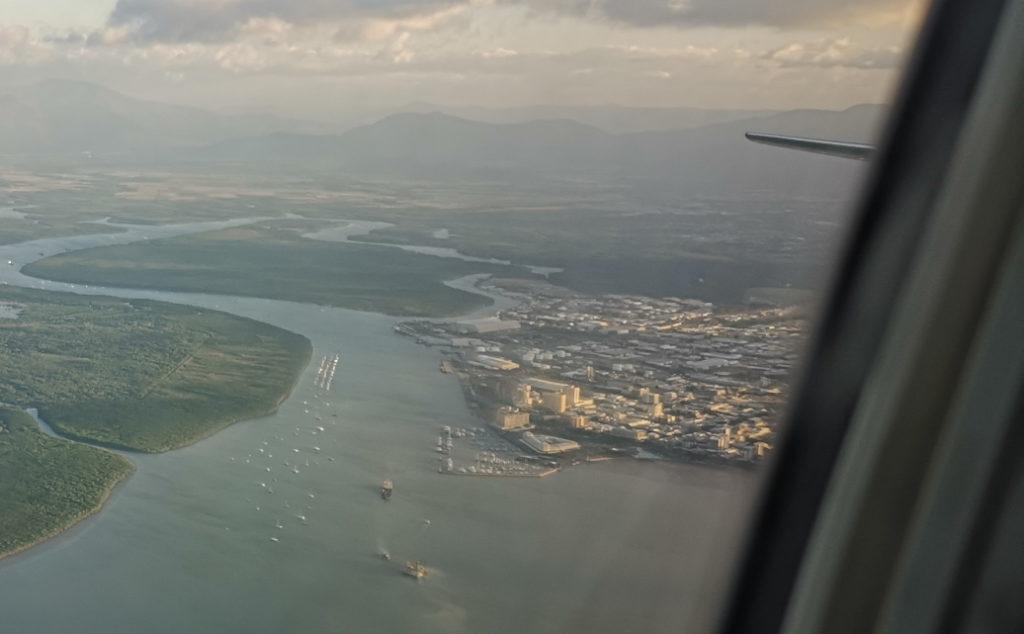 Aperçue de Cairns depuis l'avion nous menant à Sydney