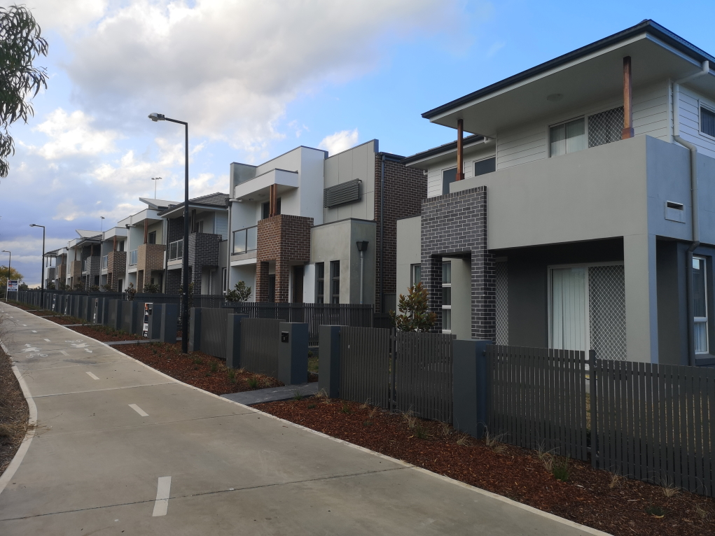Un quartier en pleine construction. Ici des immeubles encore pas habités