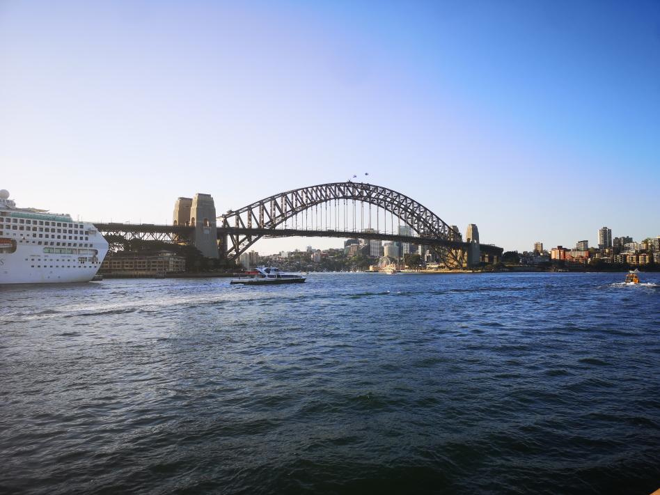 Dernière visite du centre de Sydney, on ne se lasse pas de cette vue sur le Harbour Bridge