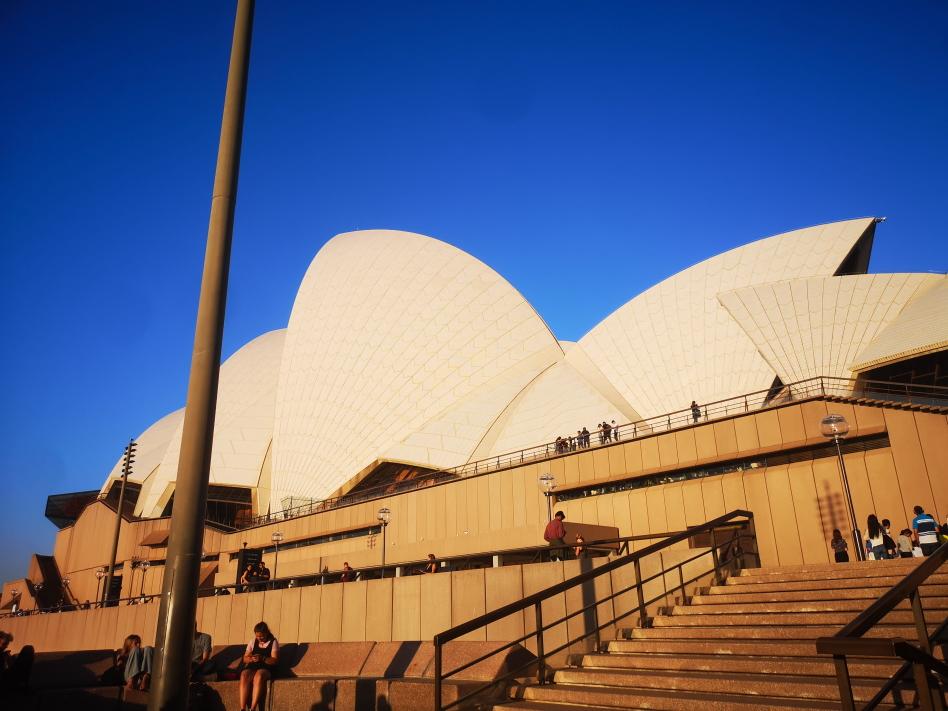 Opera House au soleil descendant