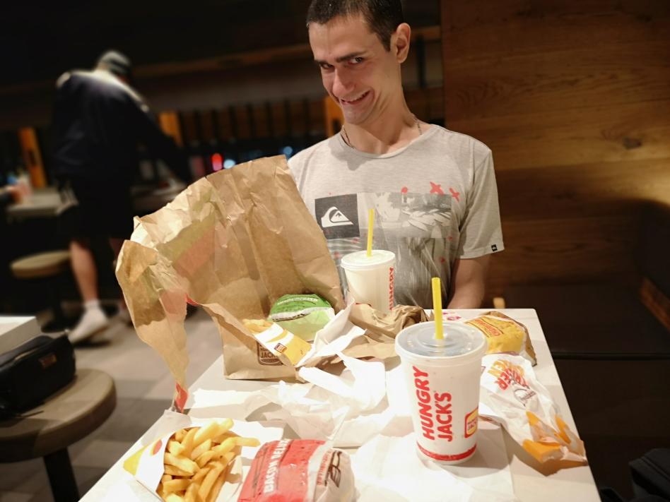 Notre dernier repas en Australie, chez Jack's! (Burger King)