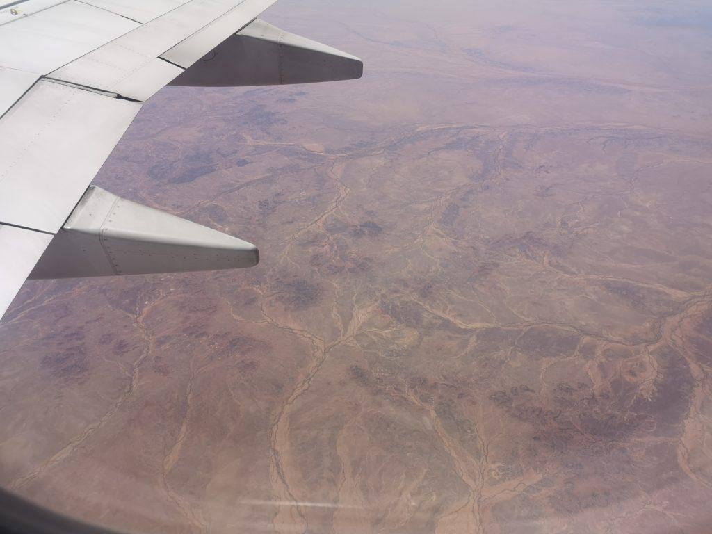 Survol du désert australien