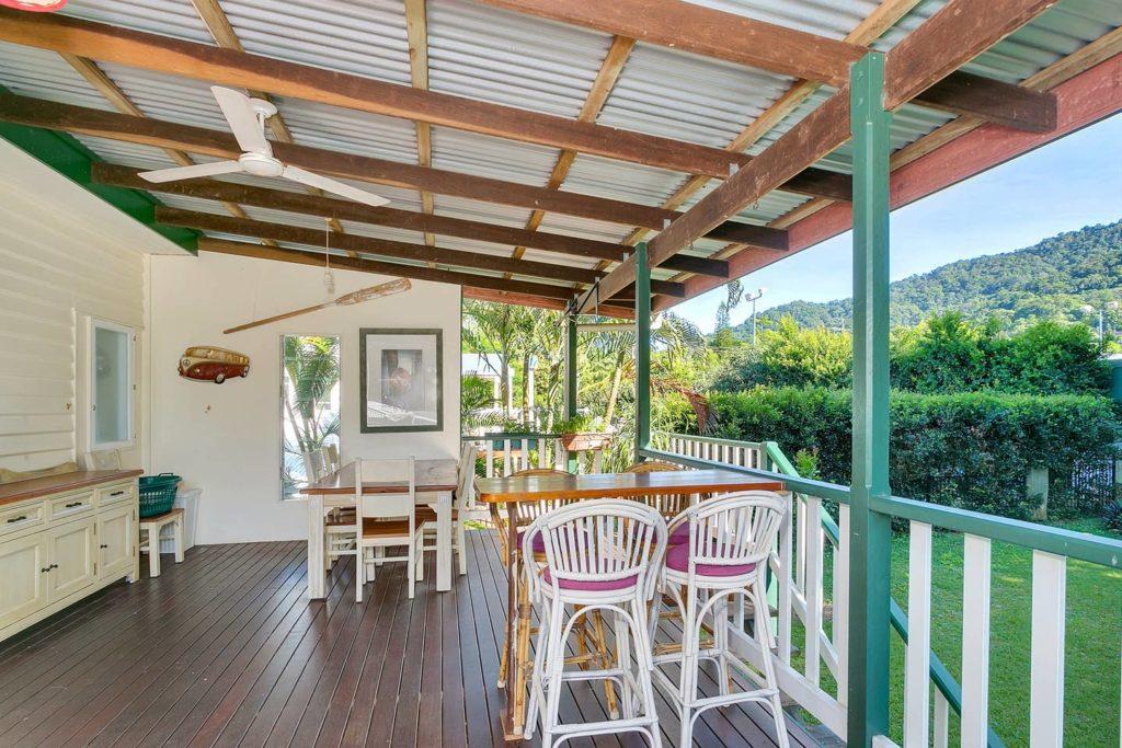 La terrasse de notre villa à Cairns