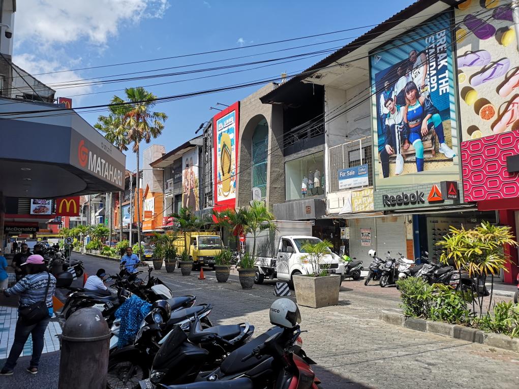 Kuta Square, le coin on ne peut plus touristique