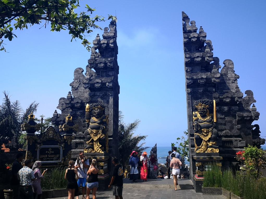 Portes du parc du temple Tanah Lot