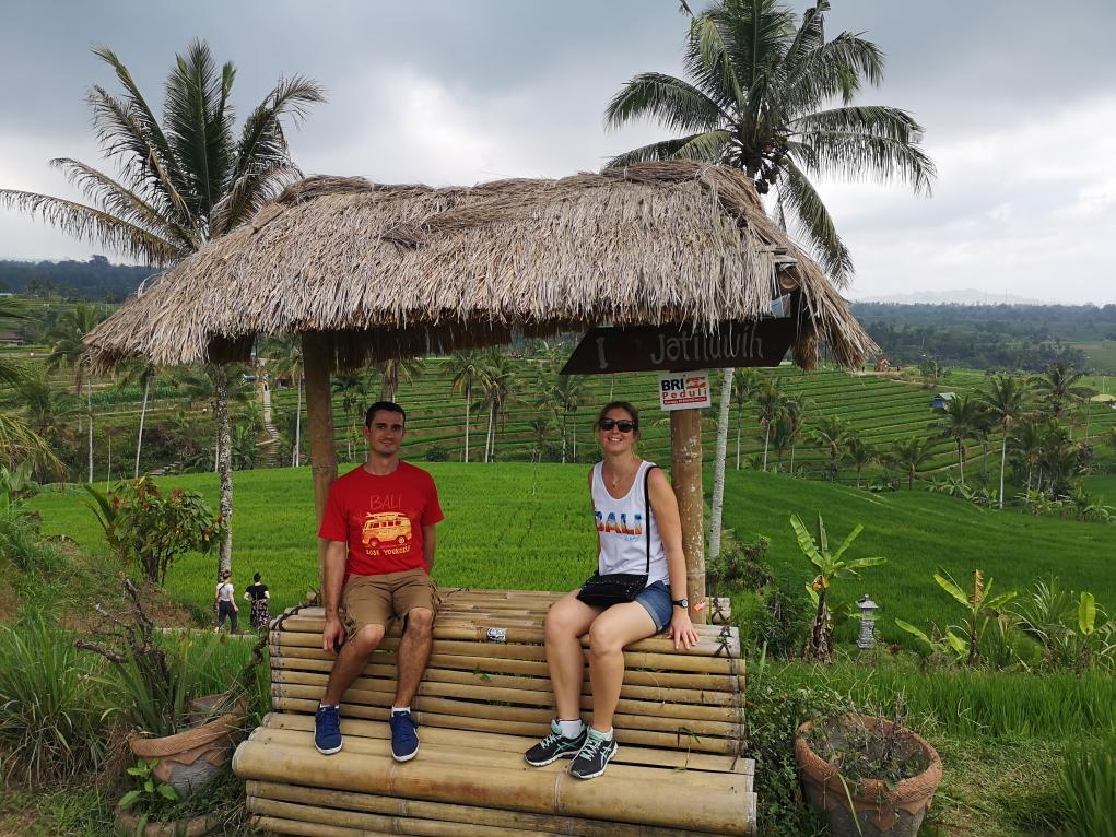 Nous devant les rizières de Jatiluwih