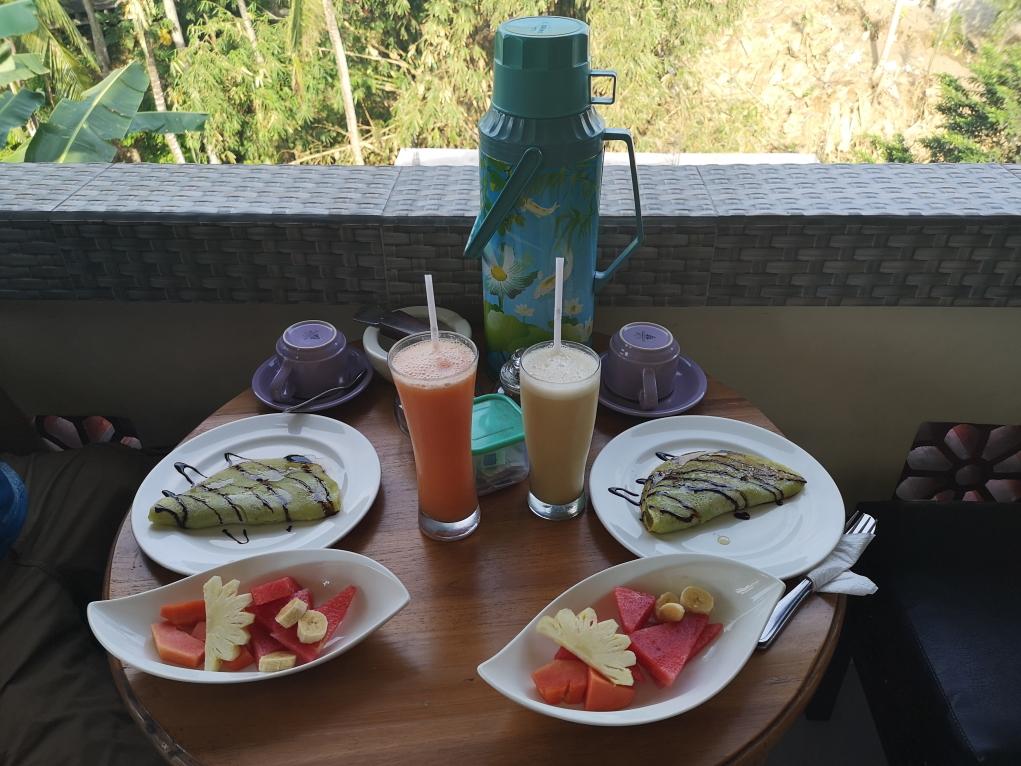 Notre succulent petit déjeuner à l'Ayu Homestay