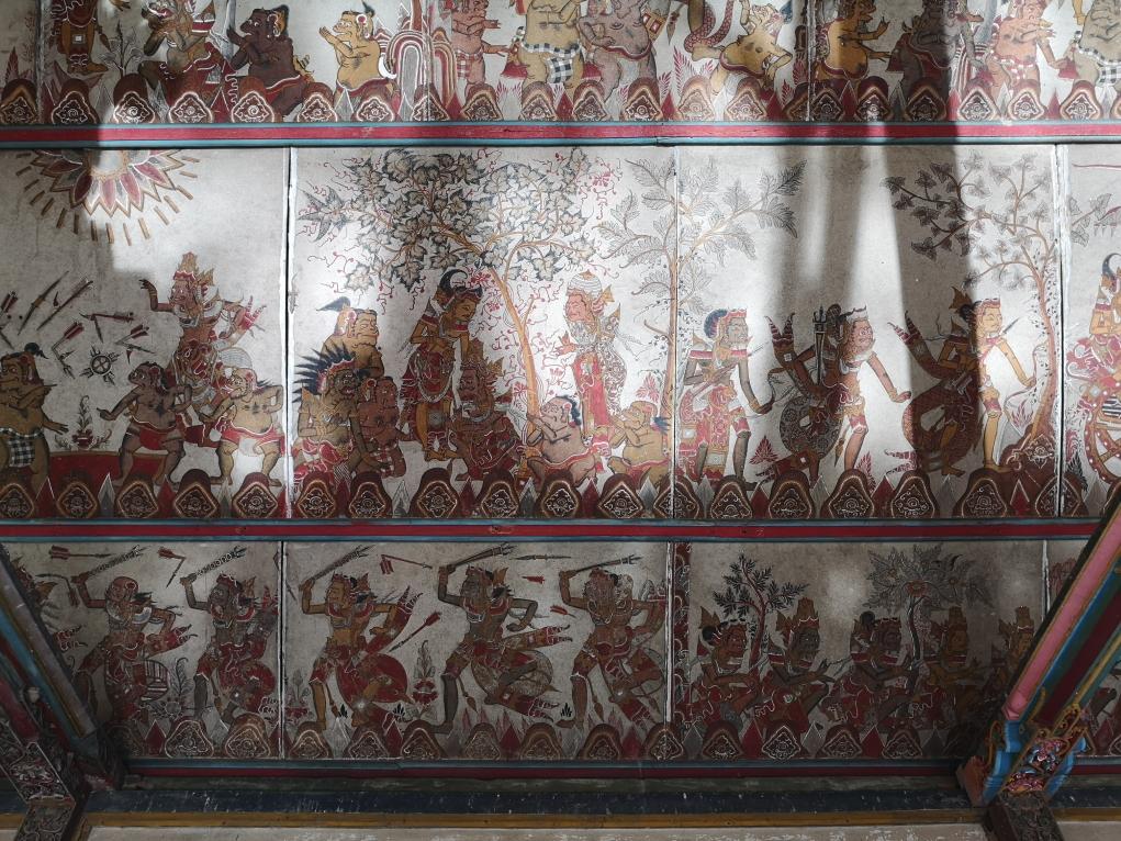 Plafonds du Taman Gili Kertha Gosa