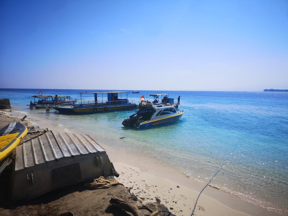 Port de Gili Meno, pas de ponton
