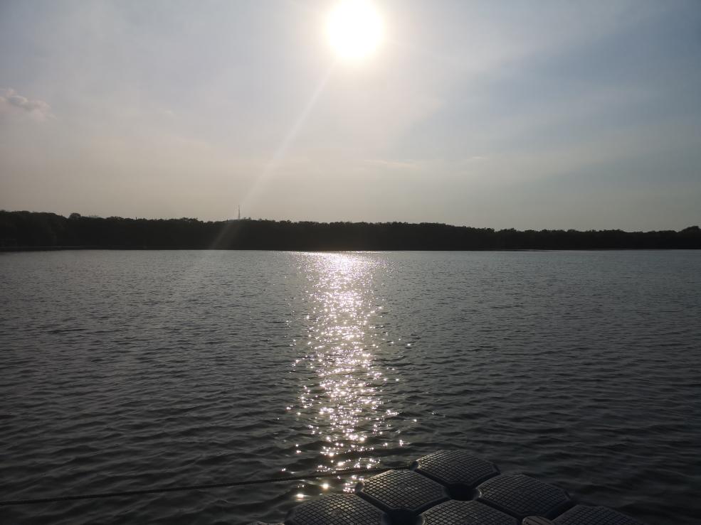 Vue sur le lac de Gili Meno