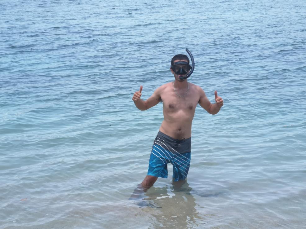 Prêt pour le snorkeling!