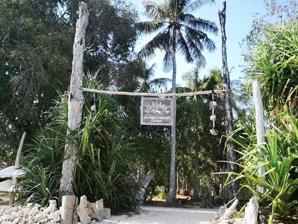 L'entrée du Gili Asahan Ecolodge