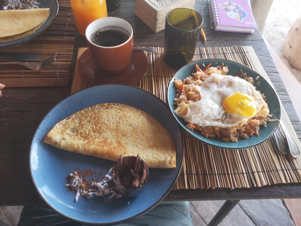 Petit-déjeuner au choix: c'est la quantité pour une personne