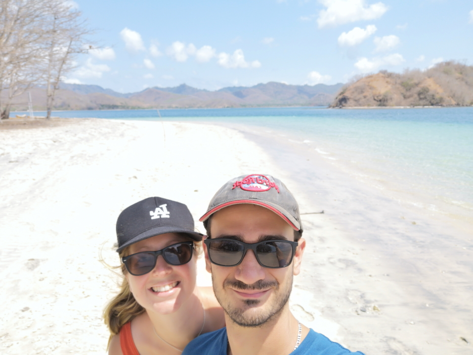 Petite selfie avant notre départ de l'île
