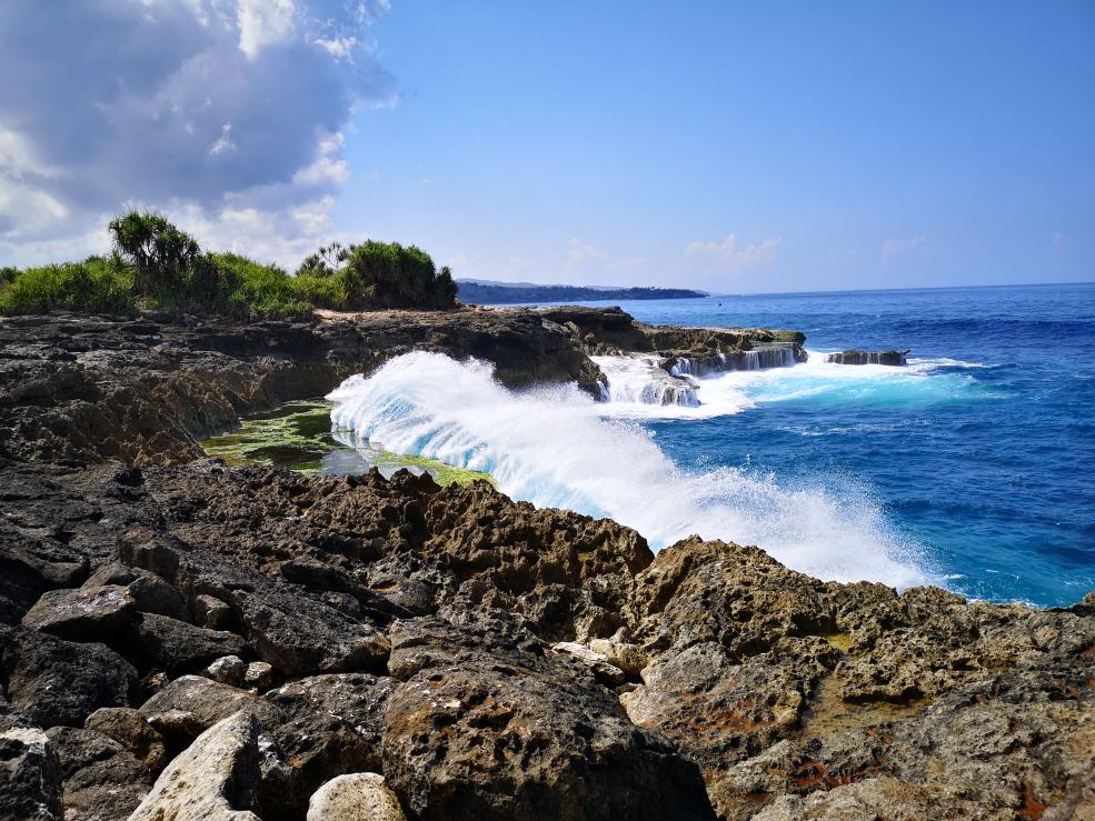 Des grandes vagues: nous sommes côté océan