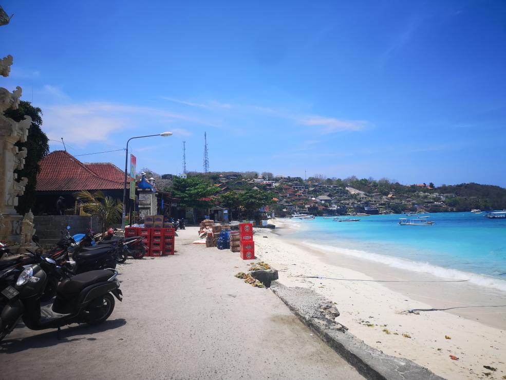 Plage principale de Nusa Lembongan