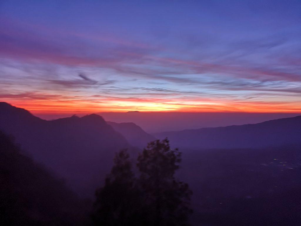 Lever du soleil depuis la King Kong Hill