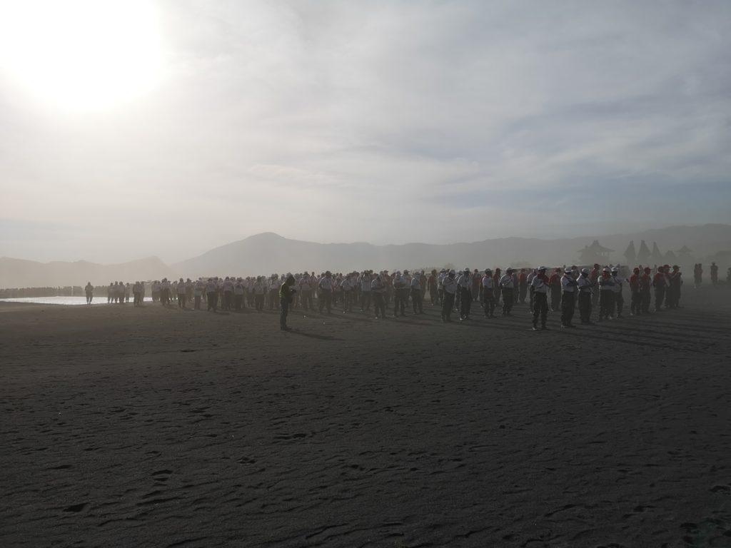 Un rassemblement militaire
