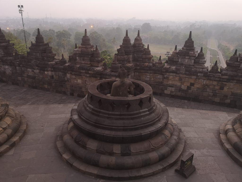 L'une des statues de Bouddha découverte