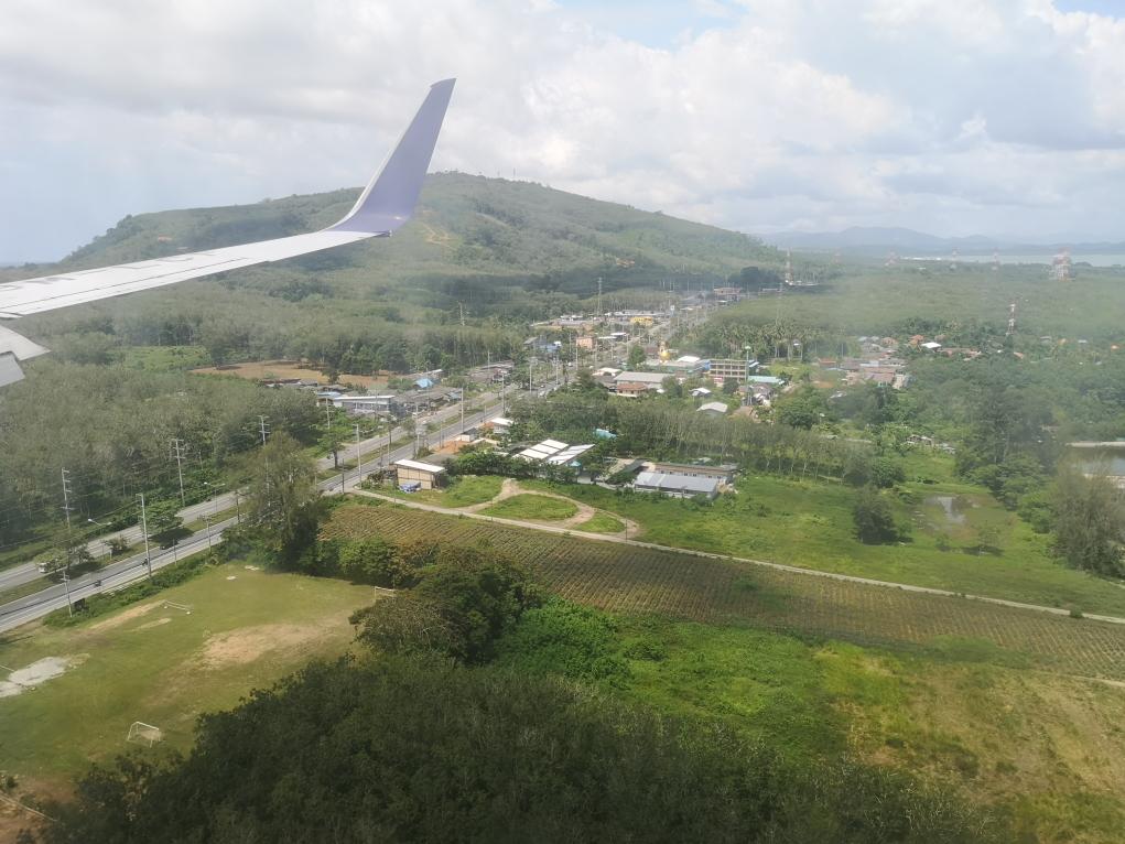 Premiers aperçus de la Thaïlande avant l'atterrissage