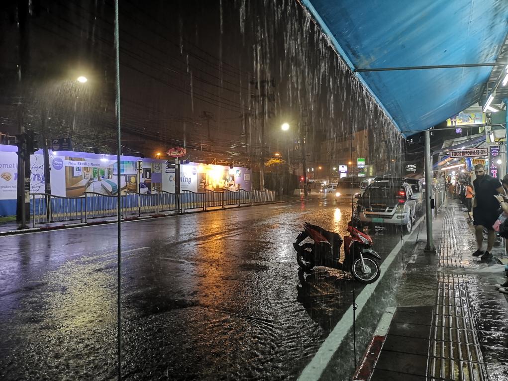 La rue inondée