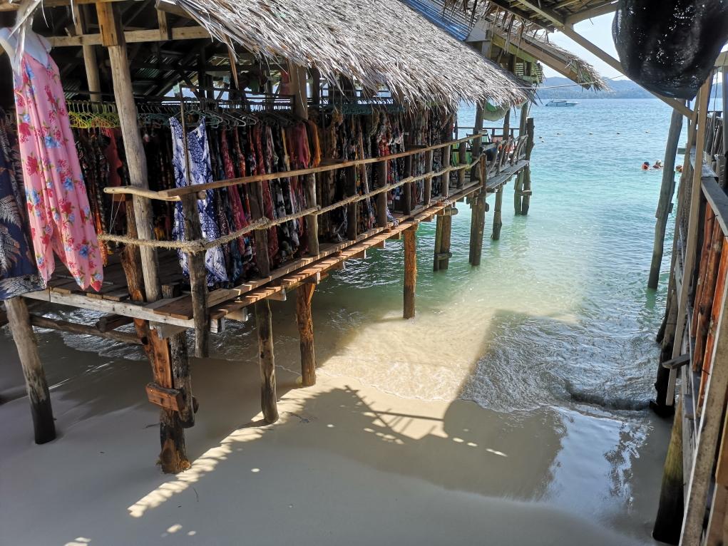 L'une des huttes marchandes sur Khai Nai Island