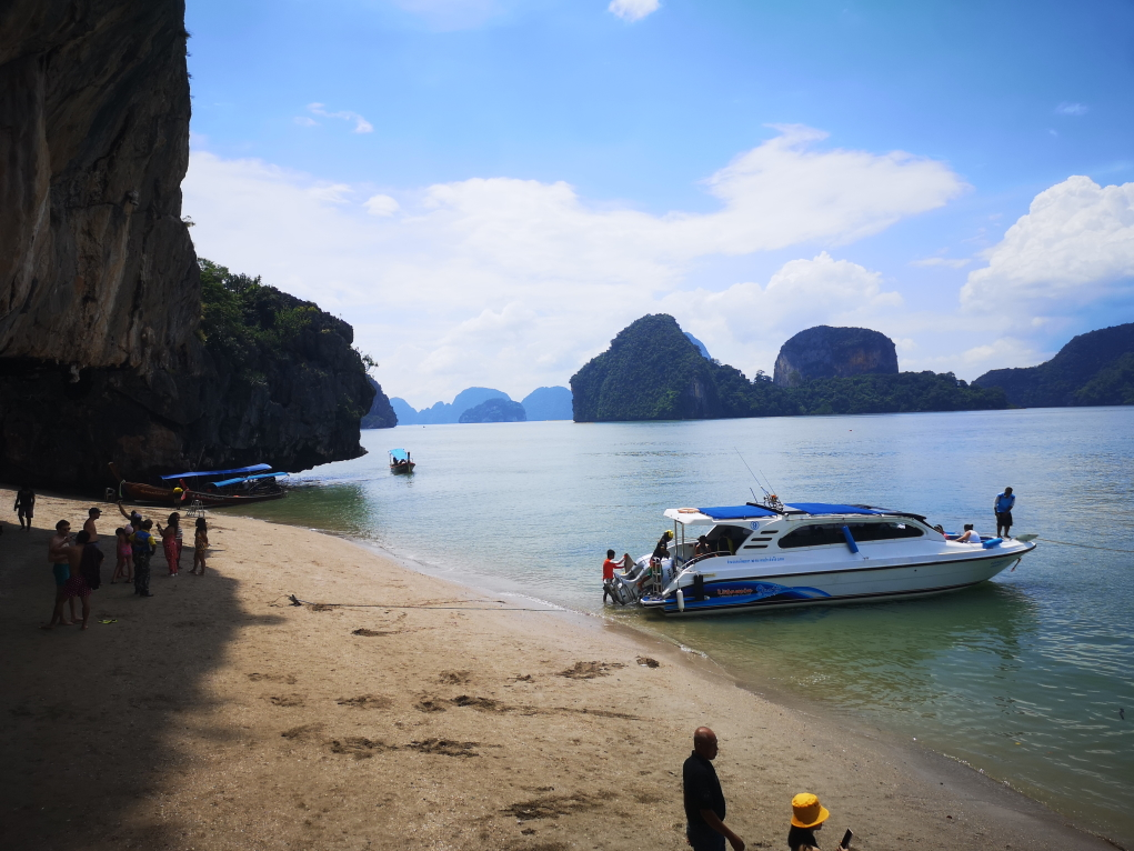 La plage de débarquement sur James Bond Island