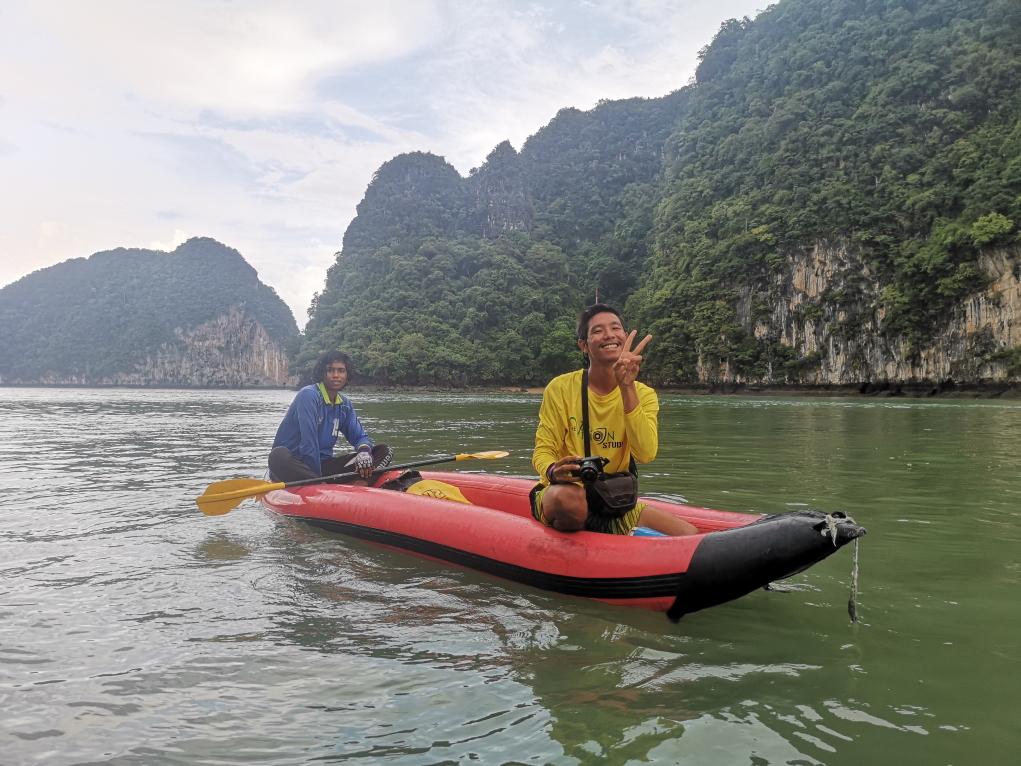 L'un des kayak avec rameur qu'on aurait pu avoir