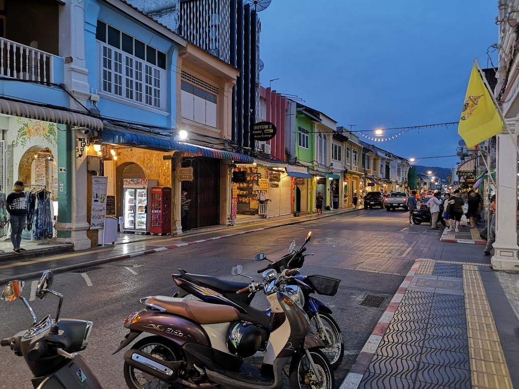 Façades de toutes les couleurs dans la vieille ville de Phuket