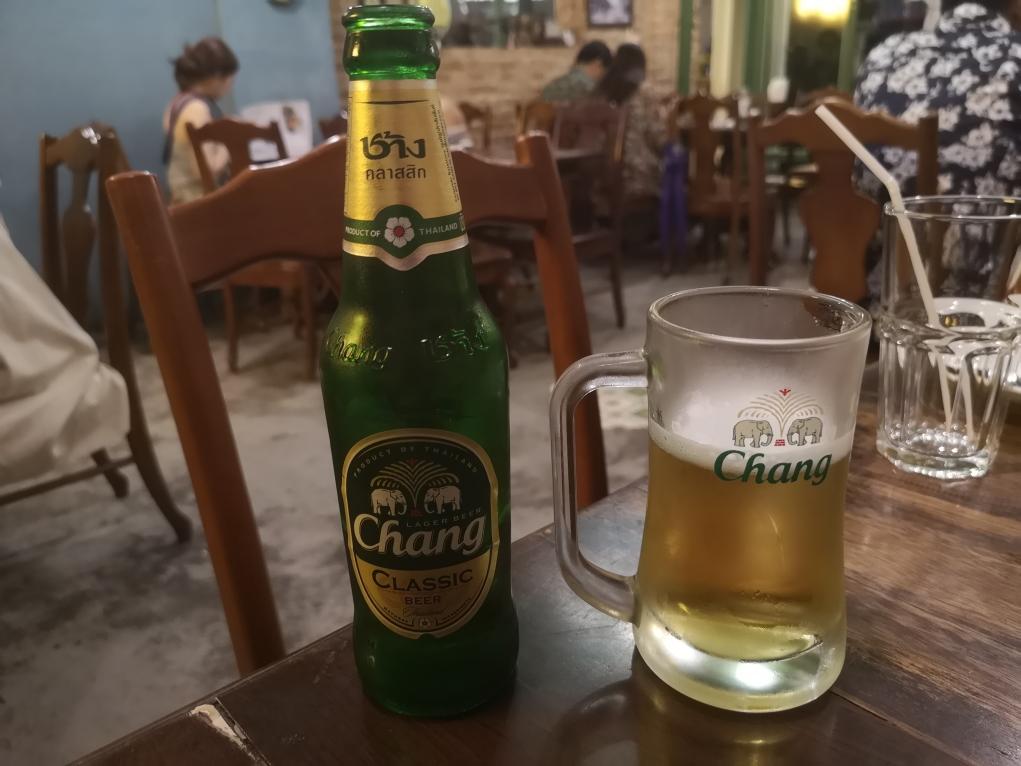 Une chang, bière locale
