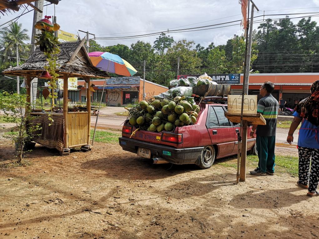 Livraison de noix de coco