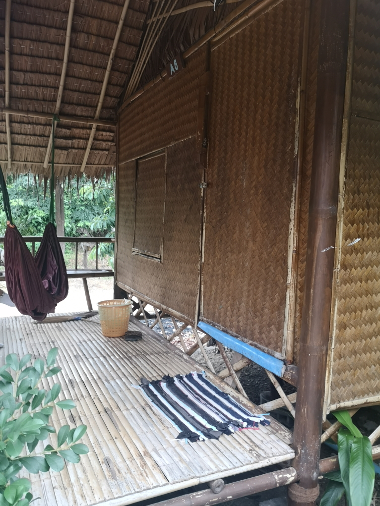 La terrasse de notre bungalow