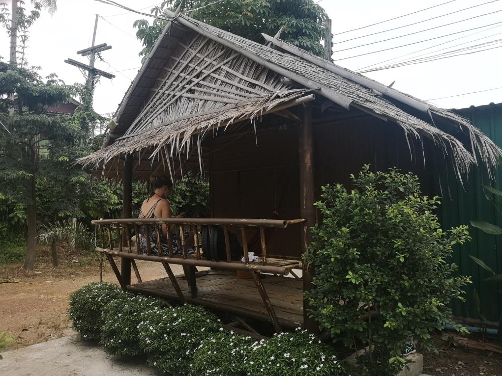 Notre bungalow vu de l'extérieur