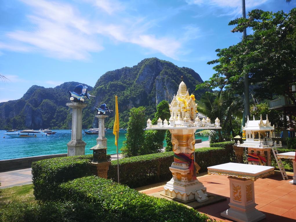 Un autel sur Phi Phi Beach